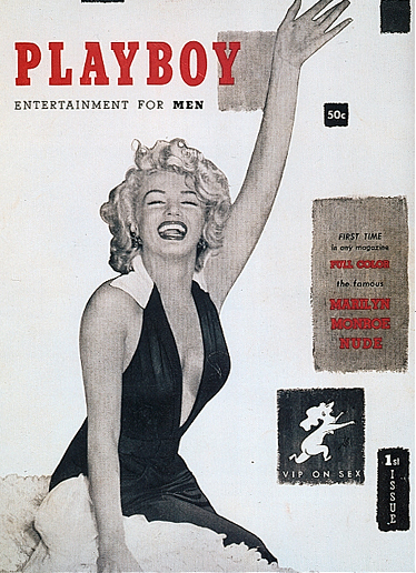 First Playboy cover 1953 with M. Monroe