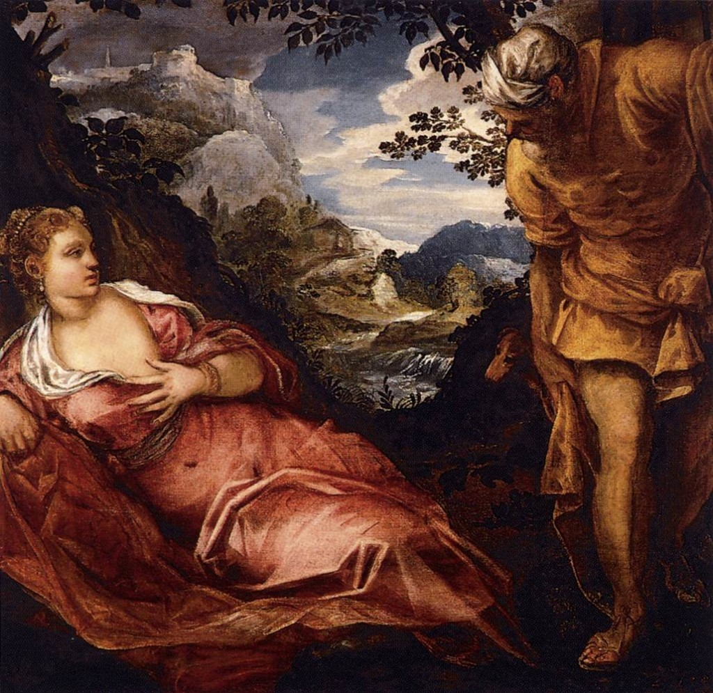 TINTORETTO The Meeting of Tamar and Judah 1555