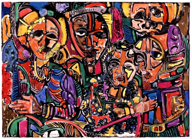 Spirits Watching 1986, David C. Driskell
