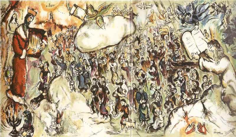 Marc Chagall The Exodus 1964