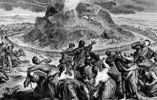 God Speaks to Israel at Sinai, by Hoet