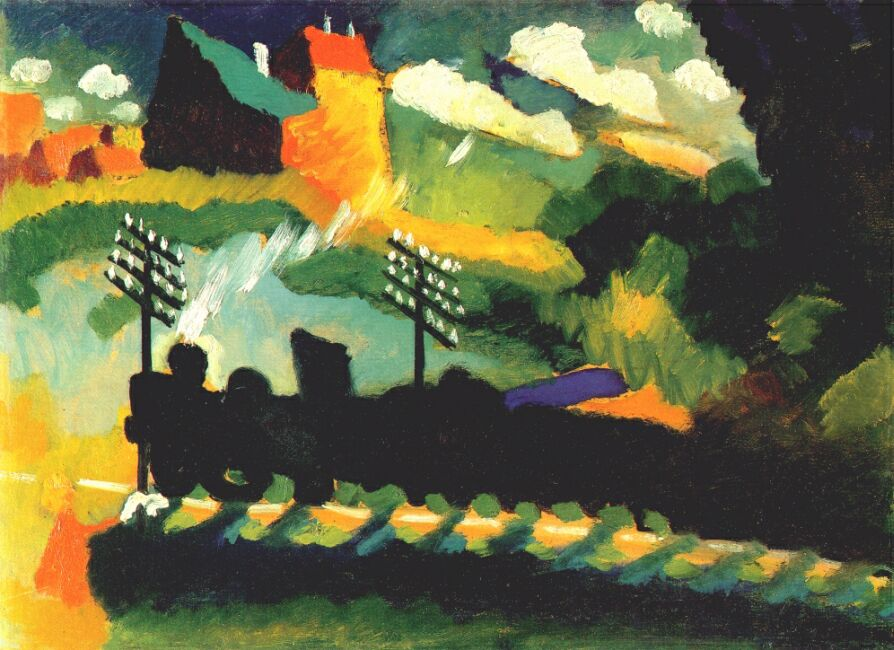 Murnau, Train & Castle - Wassily Kandinsky - 1909