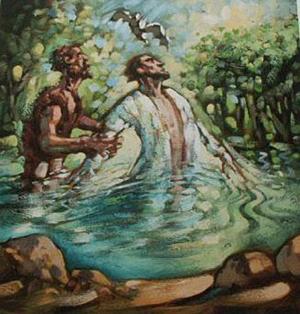 Baptism of jesus christ by john the baptist - 1 2